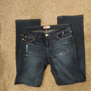 Distressed lei Jeans